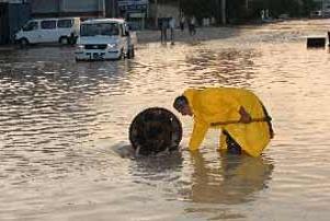 Antalya'da yağmur sele dönüştü.15140