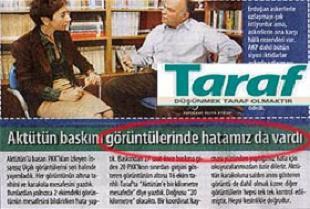 'Taraf' okuyucularından özür diledi.20050
