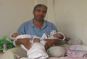 Üçüz doğuran anne evi terk etti.8575