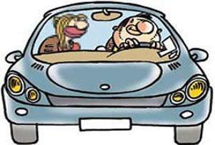 Çapkın sürücüye polis koruması.15503