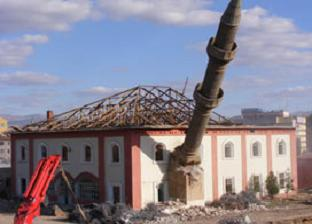 Kırıkkale'de cami yıkılıyor.12505