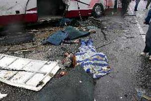 Otobüs Tır'la çarpıştı: 2 ölü.18419