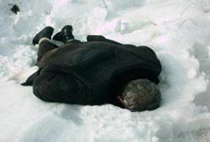 Karaman'da 1 kişi donarak öldü.9139