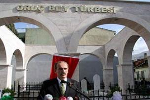 Oruç Bey Türbesi törenle açıldı.13933