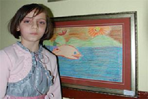 9 yaşında 2. resim sergisini açtı.11884