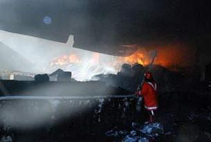 İplik fabrikası yangınında bir ölü.7946