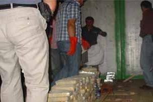 Kurye askere narkotikten baskın.10439