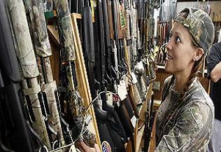 Amerika'lılar silah mağazalarına koştu.25886