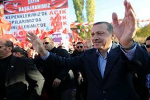 Erdoğan'a Sungurlu vatandaşlardan destek.12566