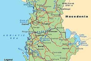 Arnavutluk'ta parti liderleri grevde.14215