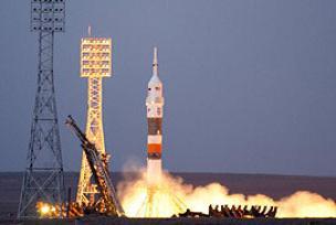 Kör astronot Soyuz'un sorunu çözdü.9515