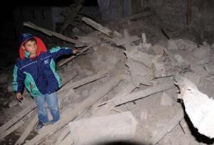 Kayseri'de deprem: 20 ev, 2 cami hasarlı.11645