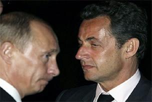 Putin asacaktı, Sarkozy ipten aldı.9759