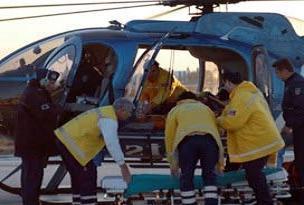 Hava ambulansı bebek için uçtu.14644