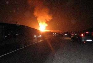 Boru hattı yangını PKK sabotajı.8890