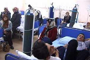 Lodos Bursa'da 120 kişiyi zehirledi.14454
