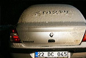 Edirne kar yağışına teslim oldu.12952