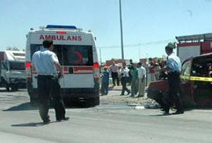 Ankara'da feci kaza: 6'sı çocuk 11 yaralı.11374