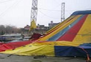 Moğolistan devlet sirk çadırı çöktü.10443