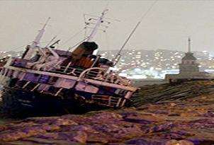 Bozcaada'da iki gemi çarpıştı.24601