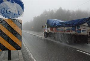 Bolu Dağı'nda yoğun sis ve kar!.10871