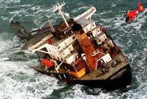 Denizi kirleten yük gemisine ceza.19324