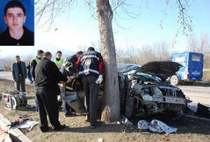 İnegöl trafik kazası: 1 ölü, 4 yaralı.16465