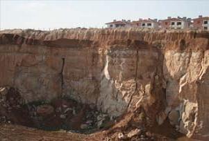 Konya'da esrarengiz eşsiz fay yarıkları.12298