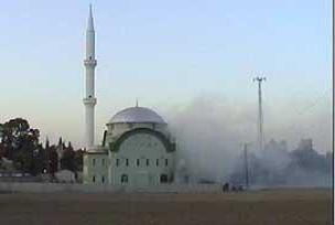 İstanbul'da iki camide yangın.6182