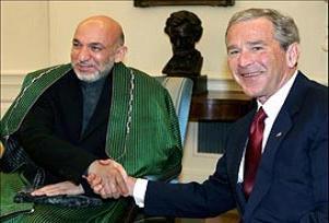 Bush, Karzai'ye destek s�z� verdi.13424