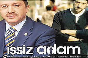 Erdoğan'a 'Issız Adam' tişörtü.18818