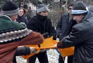 Ukrayna'da çalışanlar sokağa döküldü.13175