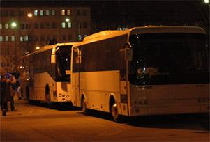 Bu otobüsler Sivas'ı alarma geçirdi.10520