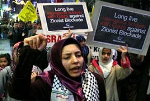 Tokatlılar İsrail'i protesto etti!.16931