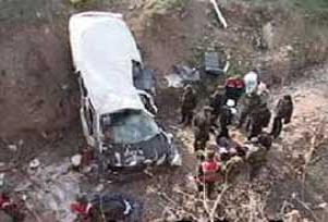 Erzurum'da kaza: 1 ölü, 11 yaralı.14759
