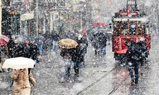 İstanbul'a mart karı yağdı.20180