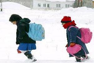 Düzce'de okullar 1 gün tatil edildi.10744