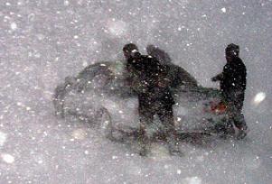 Bitlis'te kar 180 yolu kapattı.14156
