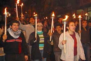 Edirne'de zamlar böyle protesto edildi.13019