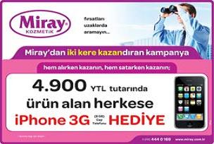 Miray Kozmetik'ten bedava iPhone 3G.18545