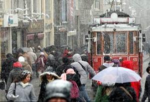 Öğle saatlerinden itibaren şiddetli kar.18068