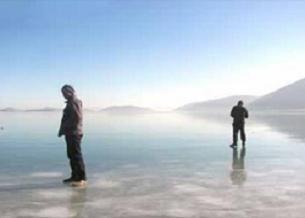 Beyşehir Gölü de soğuklara teslim oldu.6964