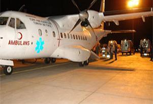 44 Iraklı tedavi için Türkiye'ye getirildi.11576