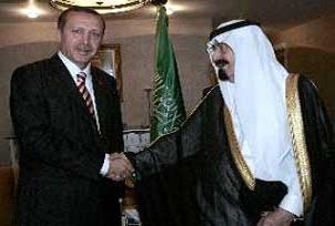 Erdoğan, Kral Abdullah ile bir arada.12085