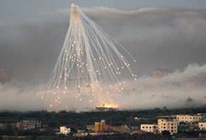 TIMES, İsrail'in fosforlu füzesini kanıtladı.9184