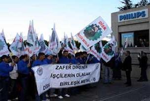 Türk Philips'te işçiler eylemi bitirdi.13424