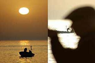 Meksikalı balıkçılar ağlarını topladı.7570