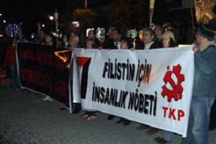 TKP'nin İsrail protestosunda 3 gözaltı.12666