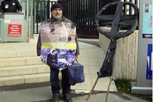 Eskişehir'den İstanbul'a Gazze için yürüdü.14867