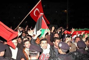 Kadıköy'de İsrail protesto edildi.15552